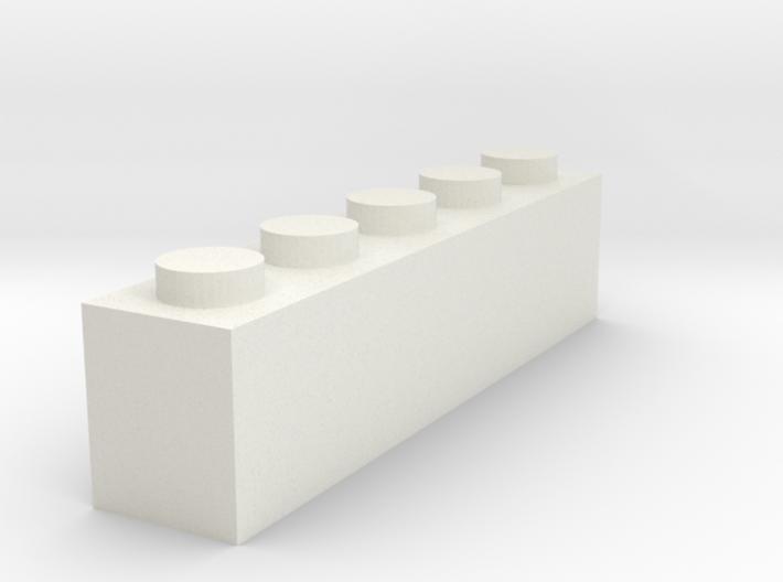 1x5 Brick 3d printed