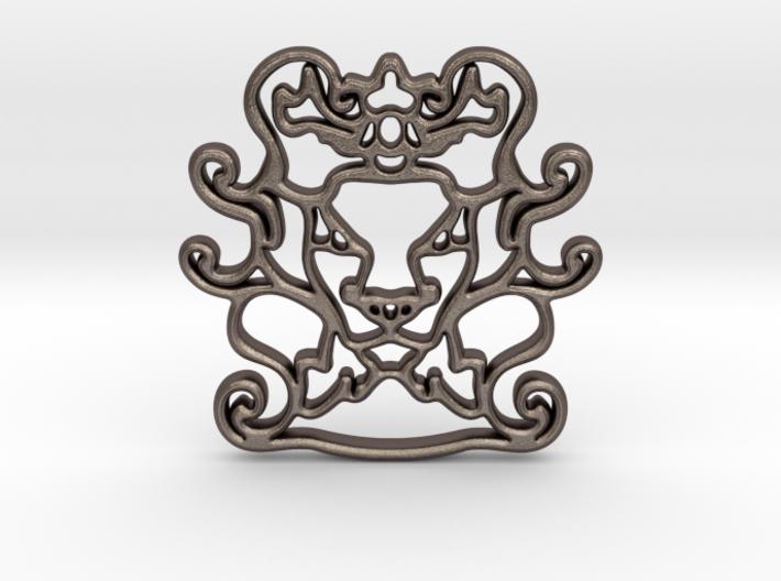 The Leon Pendant 3d printed