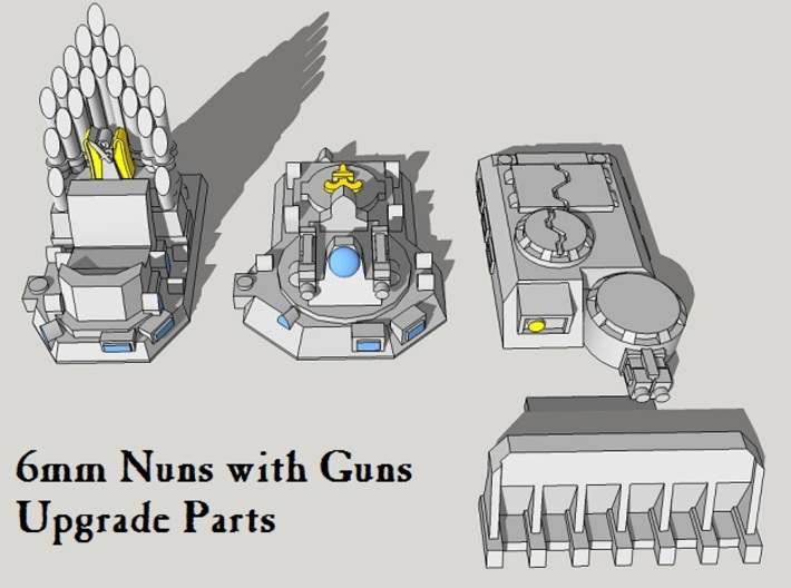 Epic Nuns-with-Guns Upgrade Parts 3d printed