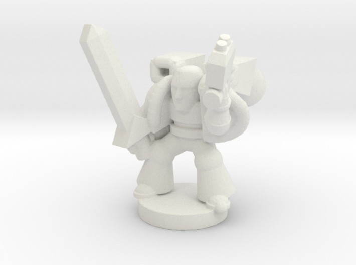 Spacemarine Captain-jumppack 3d printed