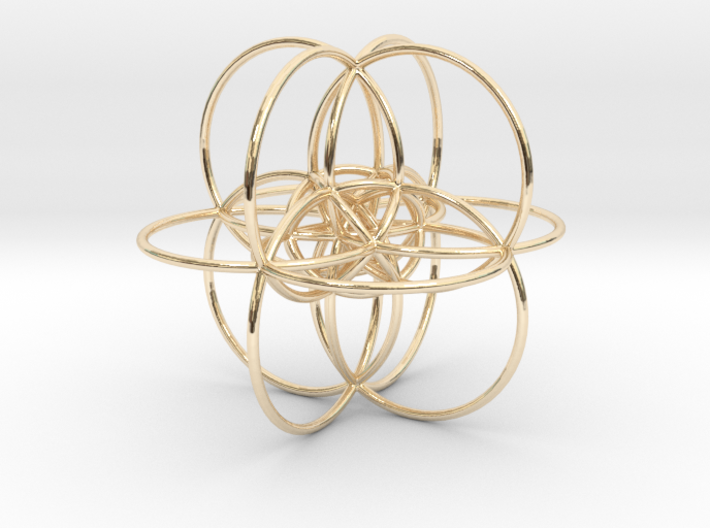24-cell Stereographic projection, large 3d printed