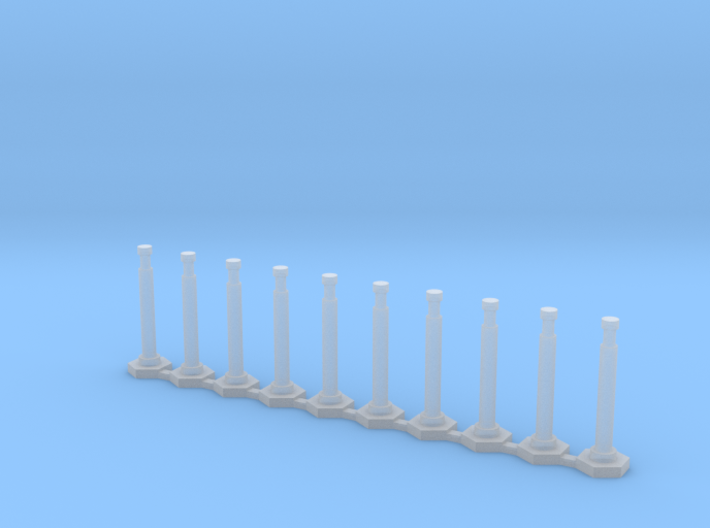 "48"" Delineator ""Grabber"" Cones 10 Pack 3d printed"