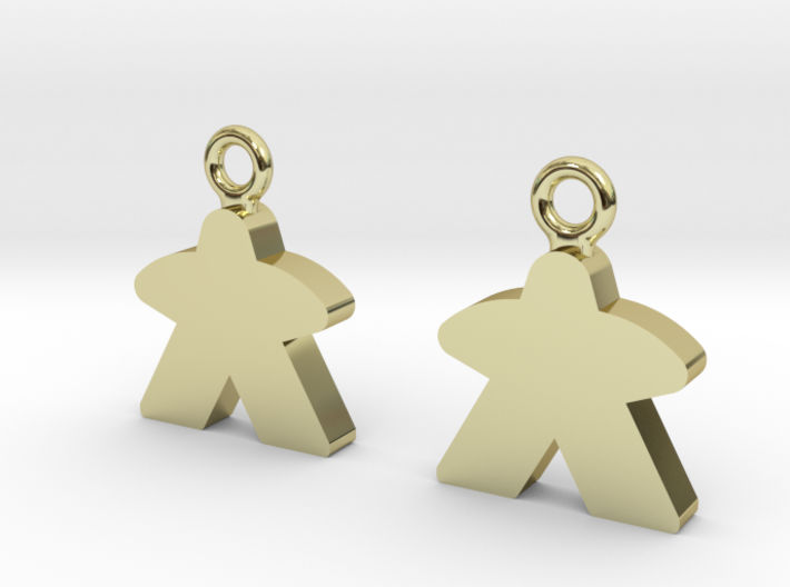 Meeple Earrings 3d printed