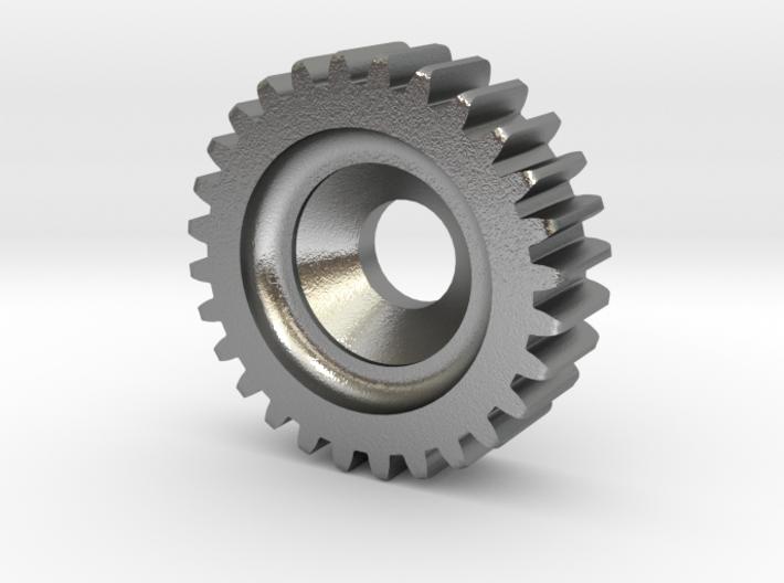 Gear Heart Pendant - Small Gear 3d printed