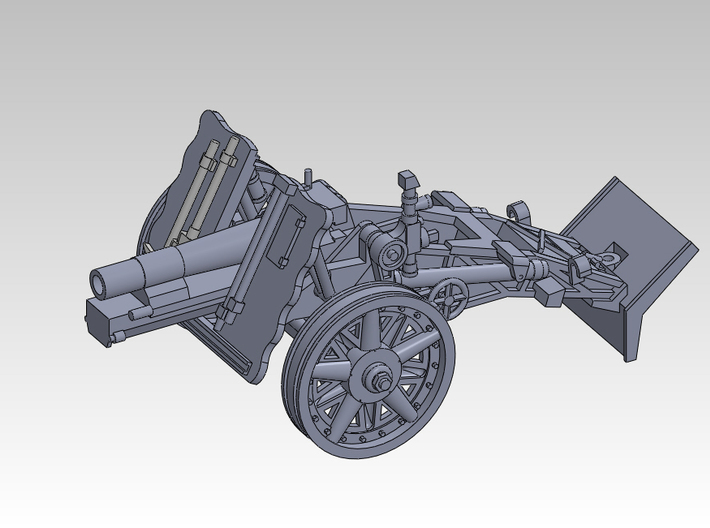 1/87 sIG33 15cm Heavy infantry cannon 3d printed
