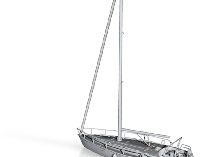 Sailboat 01.HO Scale (1:87) 3d printed Sailboat Scale HO
