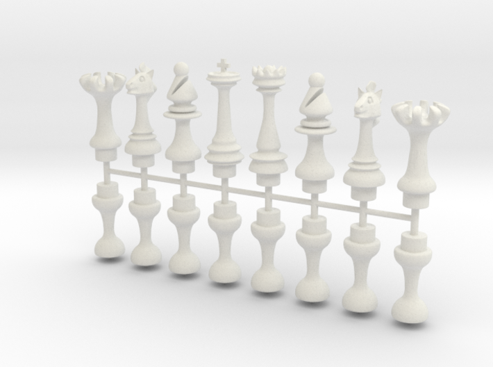Chess Board Keychain Pieces 3d printed
