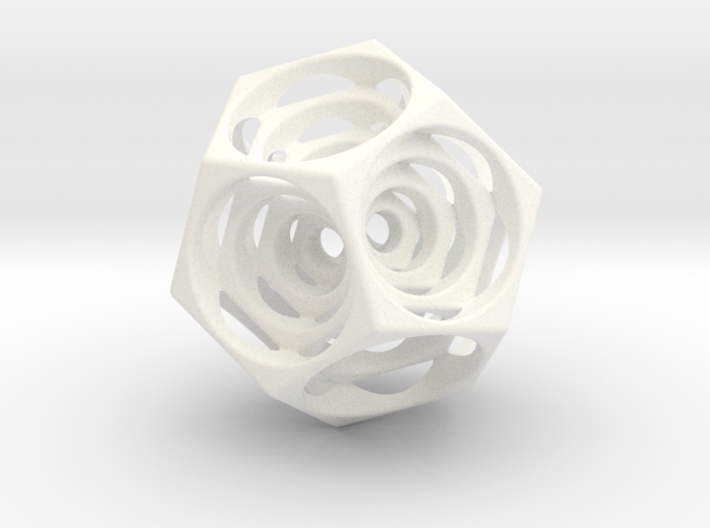 Turning Dodecahedron 3d printed