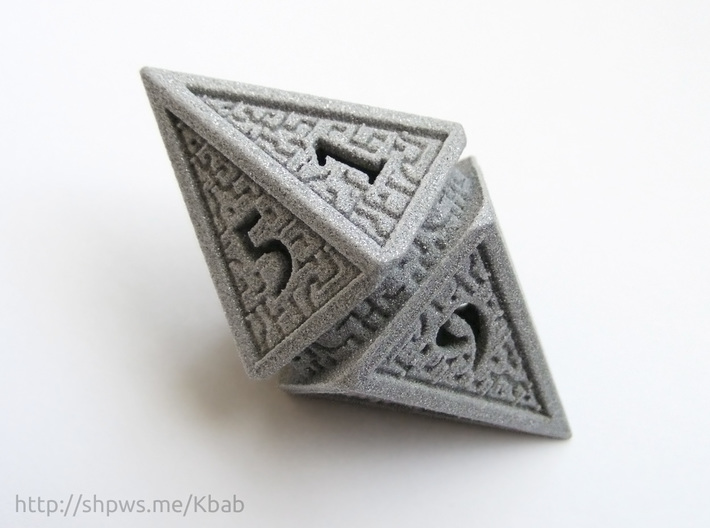 Hedron D10 Spindown Life Counter - HOLLOW DIE 3d printed The numbers on the hedron form a spindown pattern from 10 (represented by 0) to 1