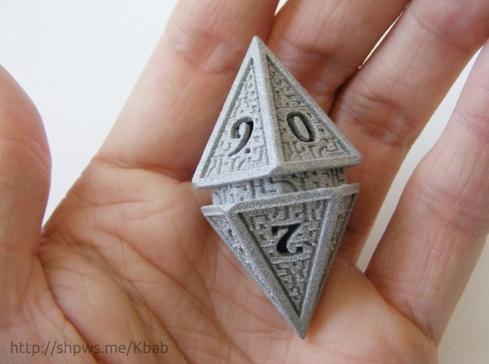 Hedron D10 Spindown Life Counter - HOLLOW DIE 3d printed The die measures 51 × 28.5 mm (2 × 1.1 inch)