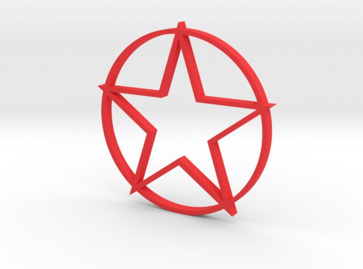 Red Star 3d printed