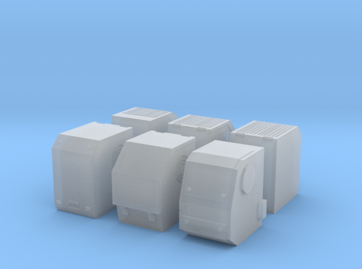 1/50th Truck Auxiliary Power Unit APU set of 6 3d printed