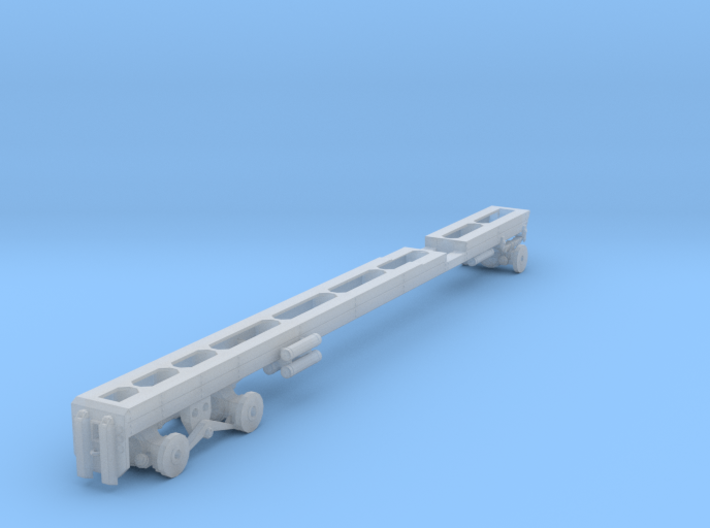 1/64th Long oilfield bed truck frame 3d printed