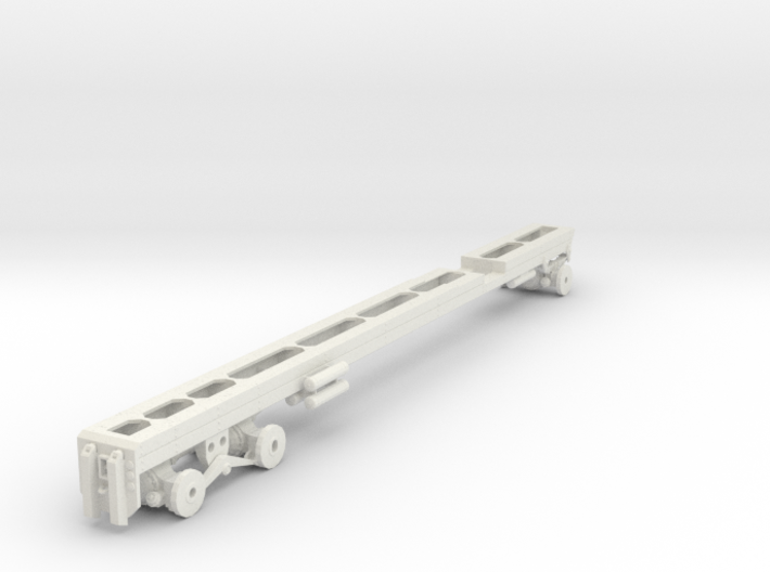 1/50th long Oilfield bed heavy truck frame 3d printed