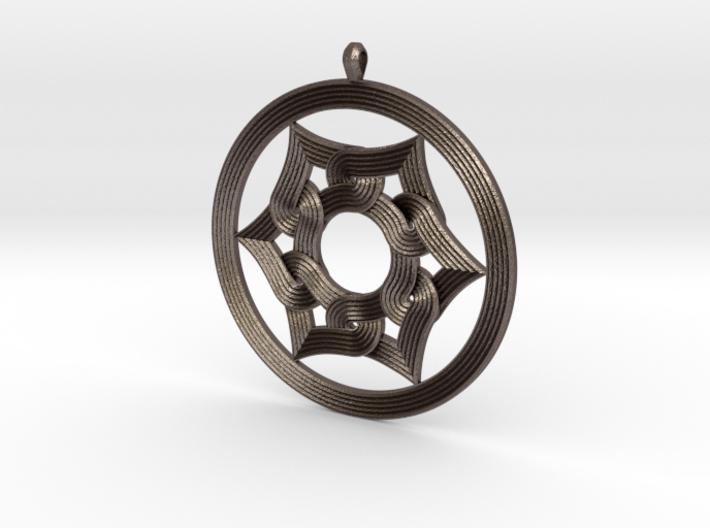 Umayyad Heart Flower Pendant 3d printed