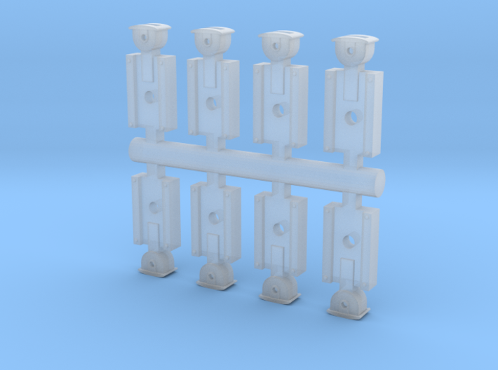 Link And Pin Couplers (HO or S Scale) 3d printed
