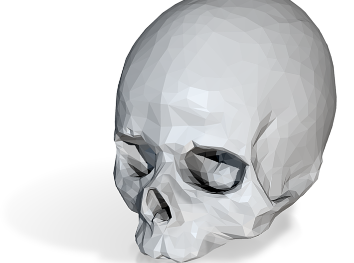 Porcelain Skull 3d printed