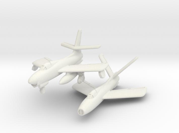 Republic XF-91 Thunderceptor Pair 6mm 1/285 3d printed