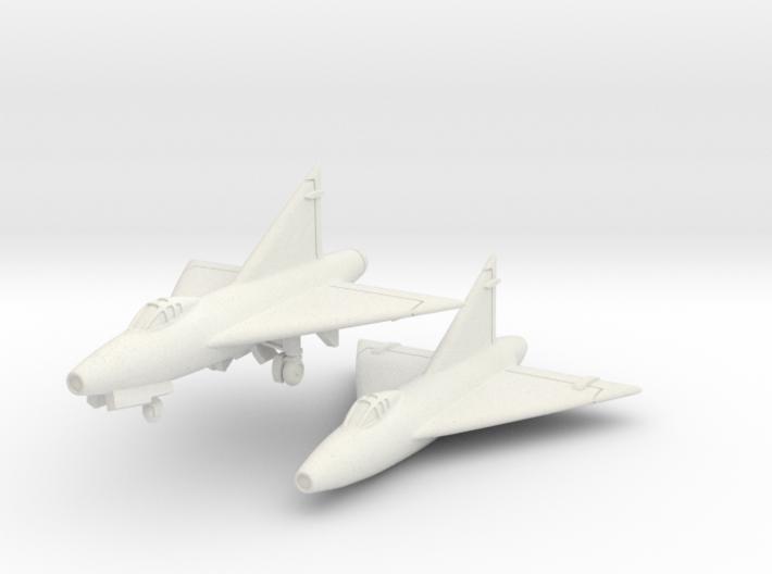Convair XF-92A (2 airplanes set) 1/285 6mm 3d printed