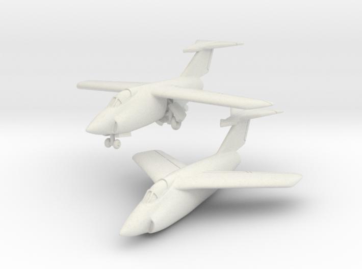 Grumman XF10F Jaguar (2 airplanes set) 1/285 6mm 3d printed