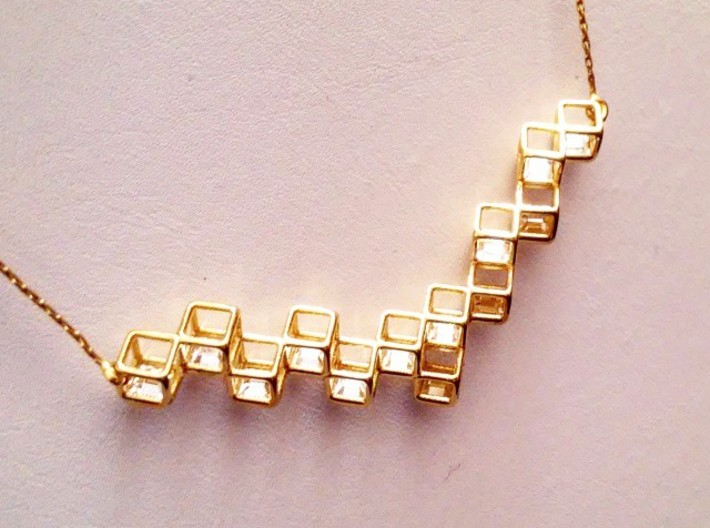 "Cube Necklace 1 ""Points of View"" collection 3d printed"