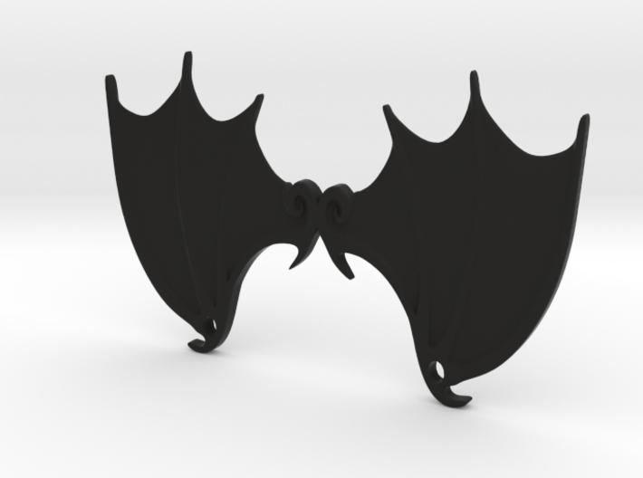 Bat wings 2 ring pendant 3d printed