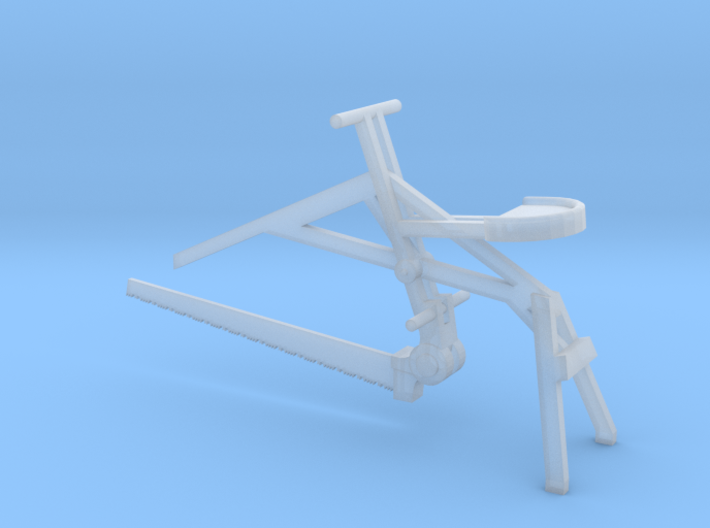 Seated Saw, HO Scale 3d printed