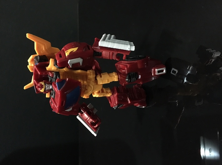 Combiner Wars Rodimus Side Fender exhaust pipes 3d printed