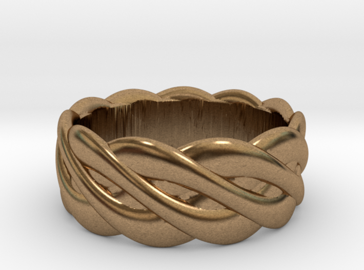 Braided celtic ring - t 19 3d printed