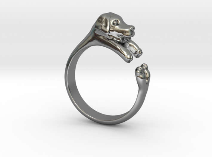 Puppy Dog Ring - (Sizes 4 to 15 available) Size 9 3d printed