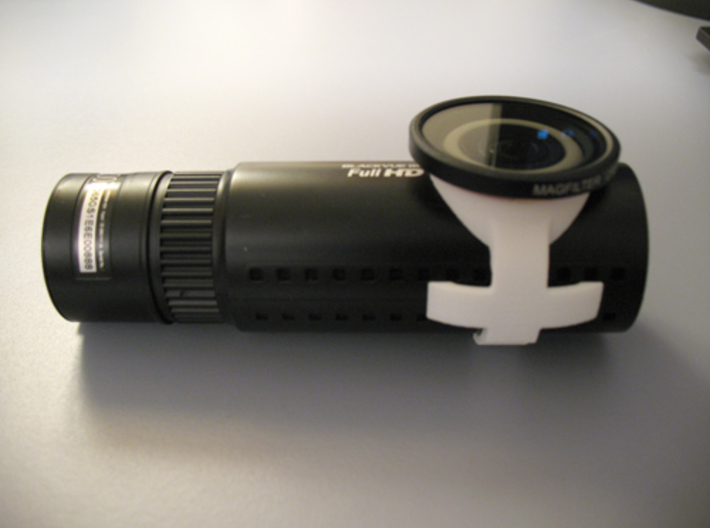 Blackvue DR650 cam adapter - Carry Speed MagFilter 3d printed MagFilter filter in place