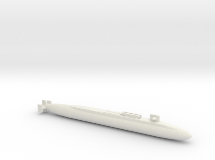 Ohio SSBN With Seal Pods, Full Hull, 1/2400 3d printed