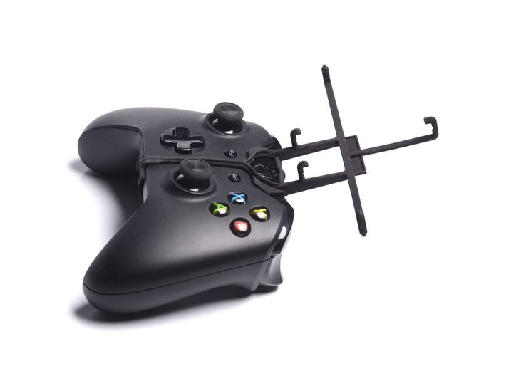 Xbox One controller & BenQ B502 3d printed Without phone - A Samsung Galaxy S3 and a black Xbox One controller