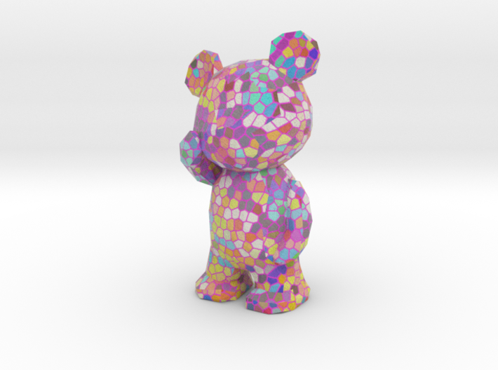 Thinking Bear - pink voronoi 3d printed