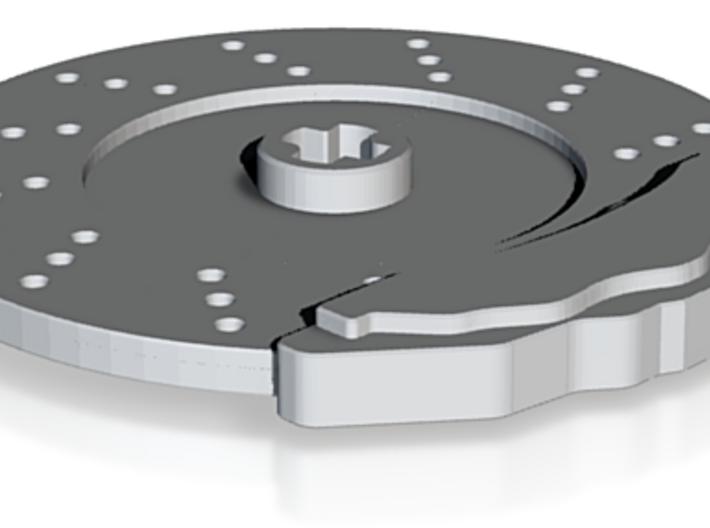 Disk Brake & Caliper for 56mm Wheel 3d printed