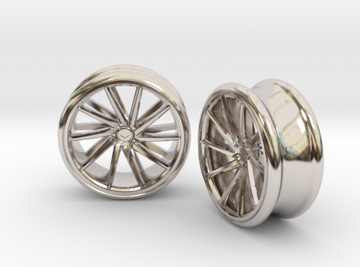 Set Of Vossen CVT Gauge EarRings 20mm InnerD 3d printed