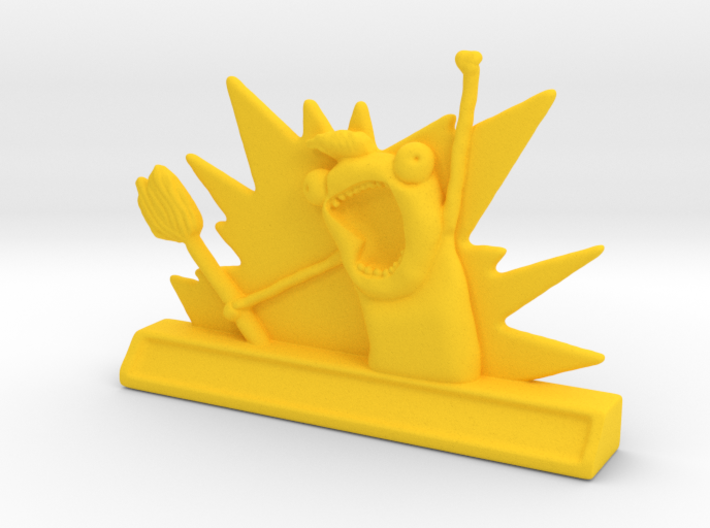 """Customisable """"All The"""" Meme 3d printed"""