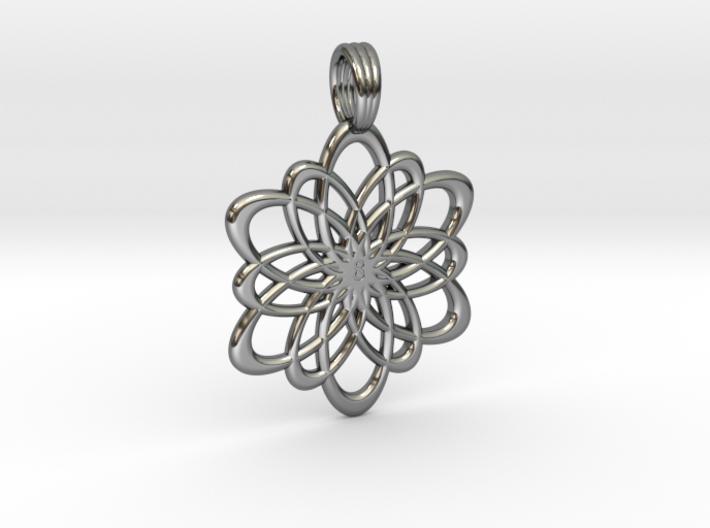 INFINITY FLOWER (pendant) 3d printed