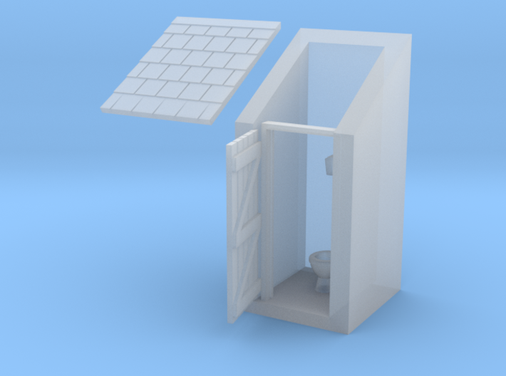 Privy - N Scale 3d printed