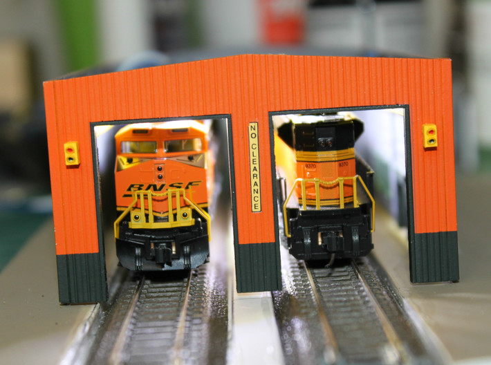 N Scale Stop-Go Signal 8pc 3d printed Painted signal on a BNSF engine facility. Thanks for the picture Dave!