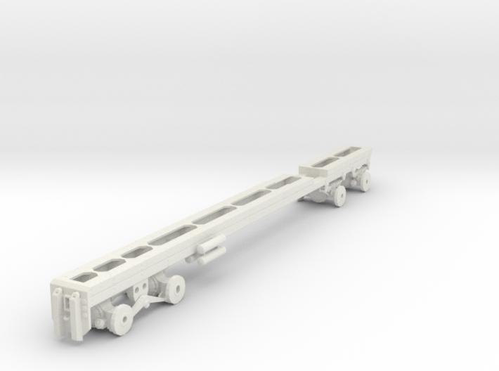 1/50th Heavy Oilfield type Twin Steer Truck Frame 3d printed