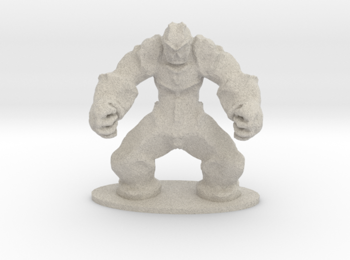 Rock Golem Earth Elemental Miniature 3d printed