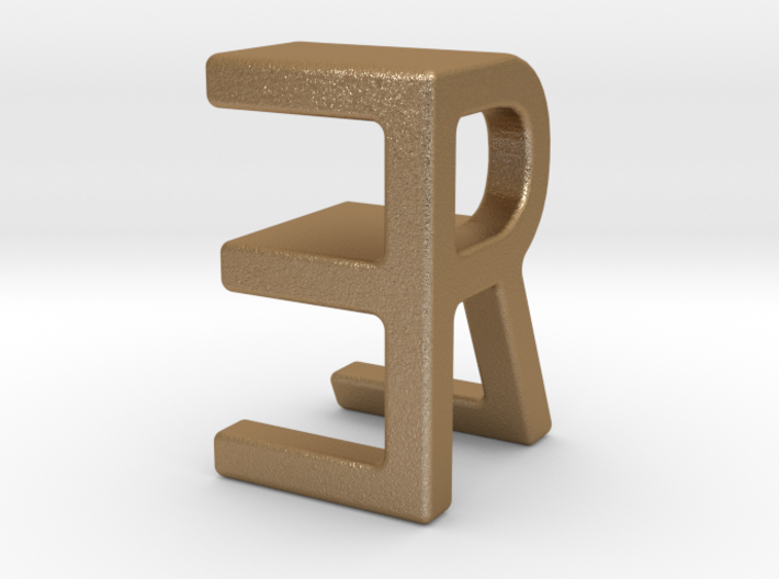 Two way letter pendant - ER RE 3d printed
