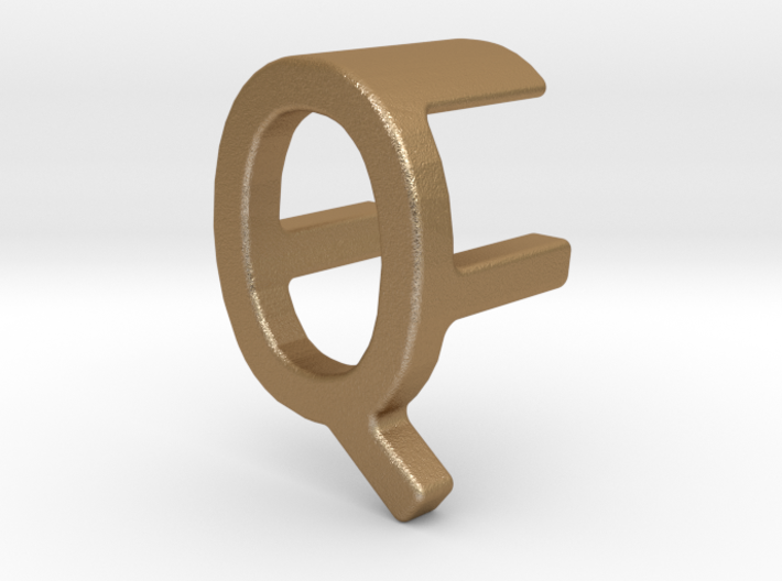 Two way letter pendant - FQ QF 3d printed