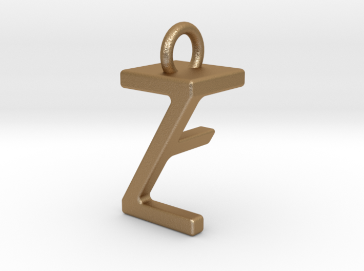 Two way letter pendant - FZ ZF 3d printed