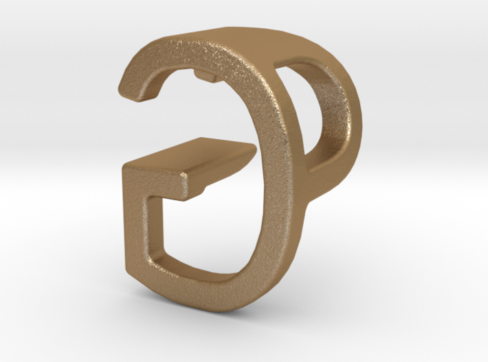 Two way letter pendant - GP PG 3d printed