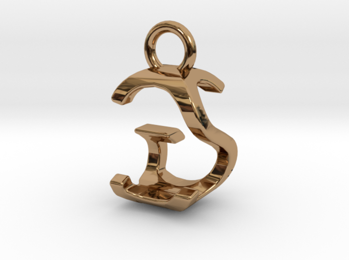 Two way letter pendant - GS SG 3d printed