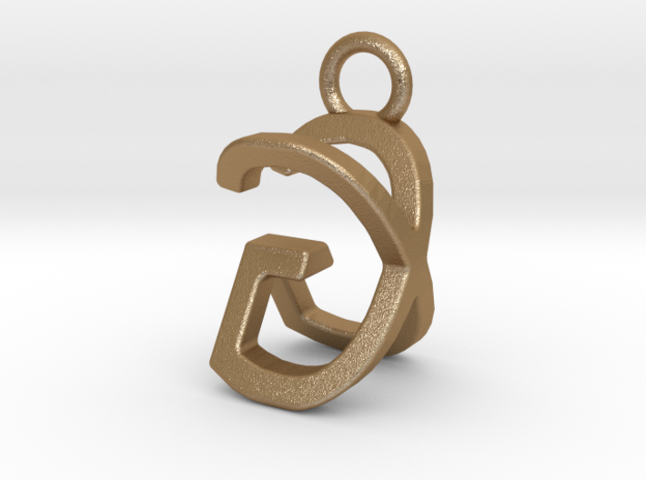 Two way letter pendant - GX XG 3d printed