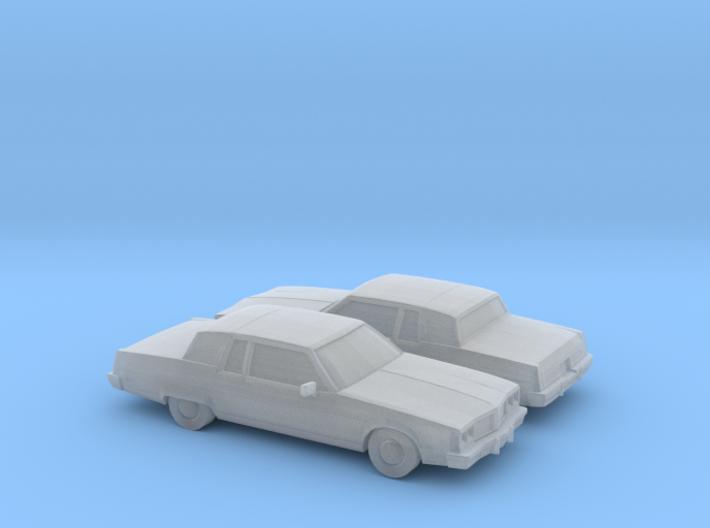1/160 2X 1982 Oldsmobile 98 Regency Coupe 3d printed
