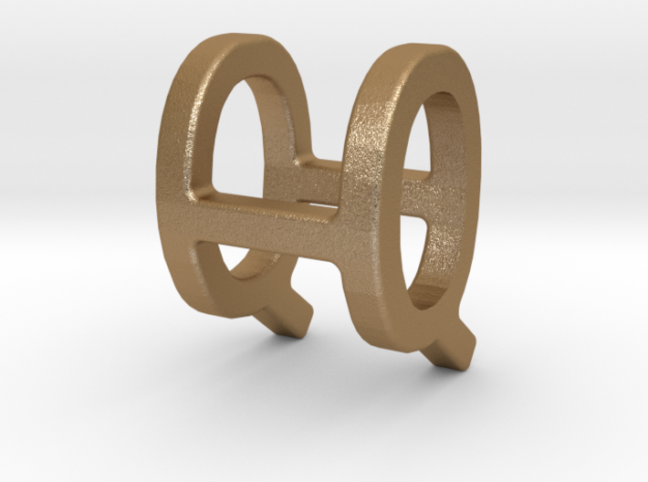 Two way letter pendant - HQ QH 3d printed